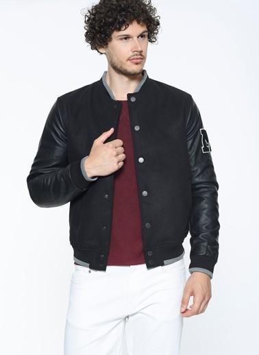 Mavi Ribana Detaylı Ceket Siyah